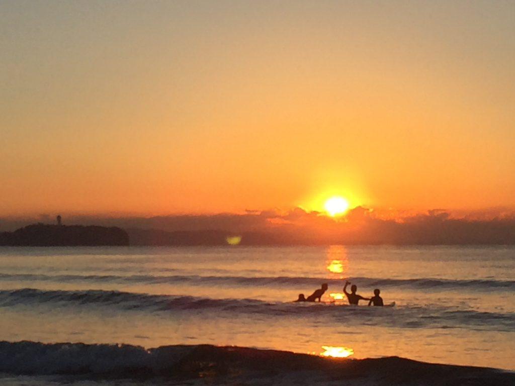 茅ヶ崎海岸、2017初日の出