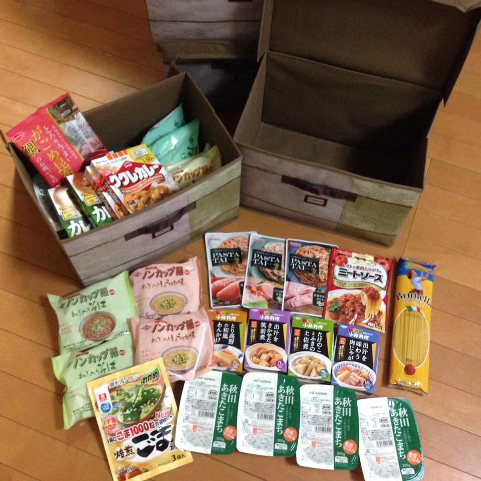 食料備蓄1箱